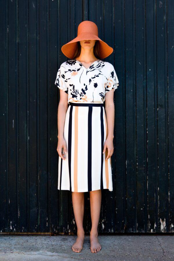FAM-amelia-skirt-stripes-mia-ecoprint-blouse-floral-2