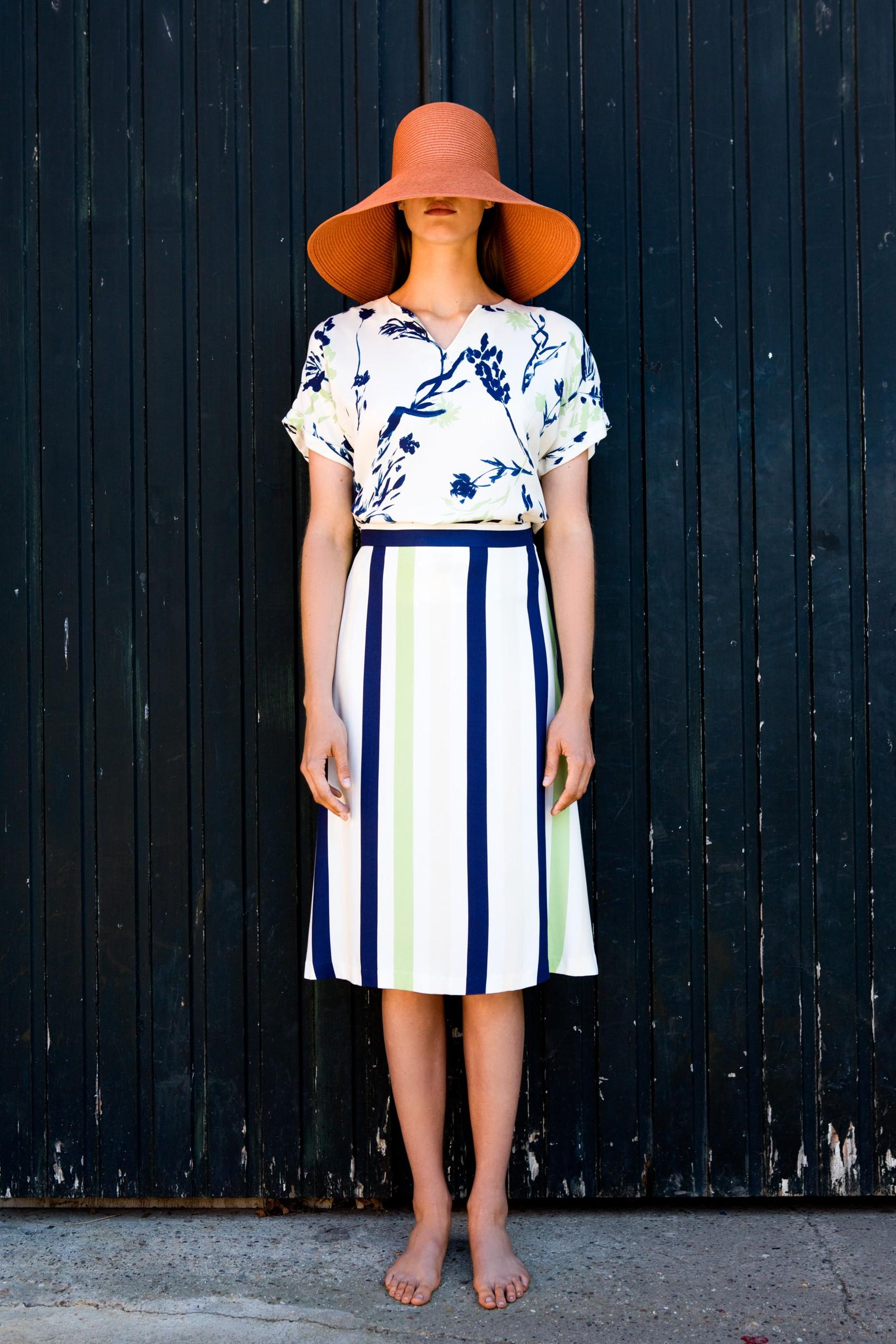FAM-amelia-skirt-stripes-mia-ecoprint-blouse-floral-3